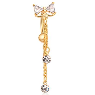 Feminino Bijuteria de Corpo Piercing de Umbigo Original Moda bijuterias Aço Inoxidável Jóias Jóias Para Diário Casual Presentes de Natal