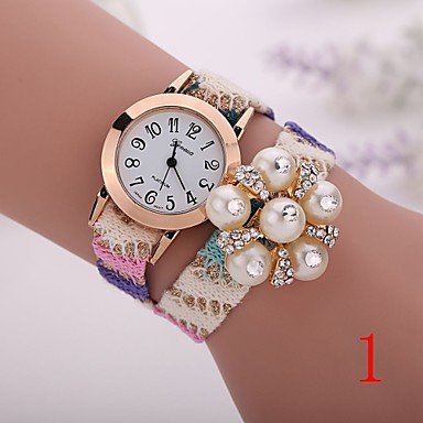 fc2fba4c0 2015 جديد الموضة للنساء الساعات الذهبية السيدات ساعة اليد ساعات الكوارتز  جنيف زهرة سوار xr1264