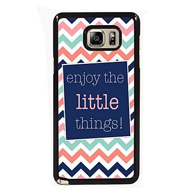 Για Samsung Galaxy Note Θήκες Καλύμματα Με σχέδια Πίσω Κάλυμμα tok Λέξη / Φράση PC για Samsung Note 5 Edge Note 5 Note 4 Note 3