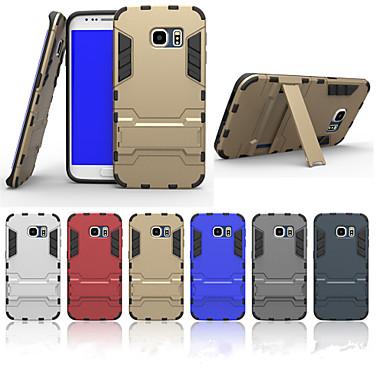 Недорогие Чехлы и кейсы для Galaxy S6 Edge-Кейс для Назначение SSamsung Galaxy S6 edge plus / S6 edge / S6 Защита от удара / со стендом Кейс на заднюю панель броня ПК