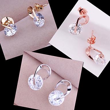 Oorknopjes Verzilverd Zilver Roos Gouden Sieraden Voor Bruiloft Feest Dagelijks Causaal 2 stuks