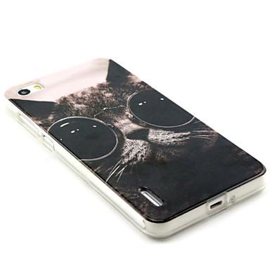 glazen kat patroon TPU en IMD telefoon geval voor Huawei eer 6