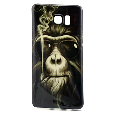 Para Samsung Galaxy Note Case Tampa Estampada Capa Traseira Capinha Animal PUT para Samsung Galaxy Note 5