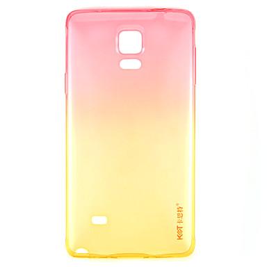 ag, nm κρύσταλλο αγάπη ροζ κλίση σε κίτρινο TPU πίσω κάλυψη περίπτωσης για Samsung Galaxy note4