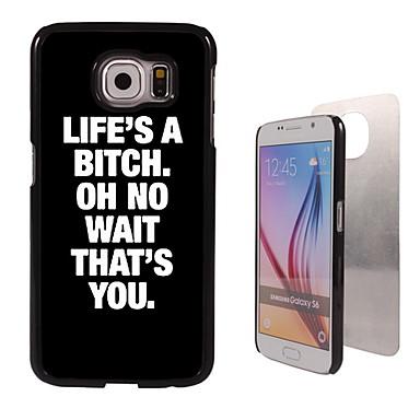 Voor Samsung Galaxy hoesje Hoesje cover Patroon Achterkantje hoesje Woord / tekst PC voor Samsung S6