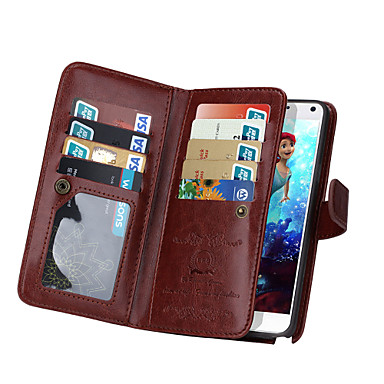 de ji πορτοφόλι pu δερμάτινη θήκη για Samsung γαλαξίας Σημείωση 5 / σημείωση 4 με 9 υποδοχή κάρτας (διάφορα χρώματα)