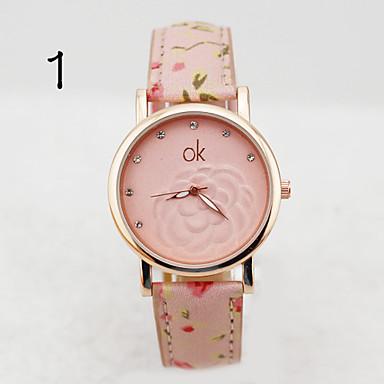 Dames Modieus horloge Kwarts Leer Band 2 3 4 5 6