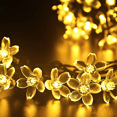 gmy light flower shape 50led solar light warm white / cool white / mix color