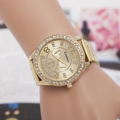Dames Modieus horloge Gesimuleerd Diamant Horloge Kwarts imitatie Diamond Zwitsers Designer Legering Band Zilver Goud Goud RoseZilver