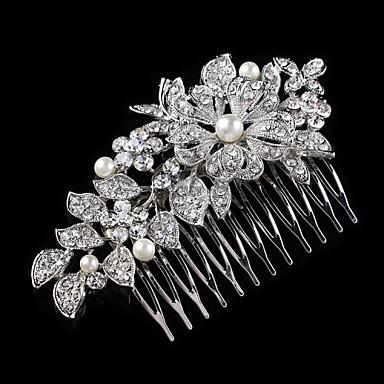 Bruiloft/Feest - Haarkammen (Kristal , Zilver)
