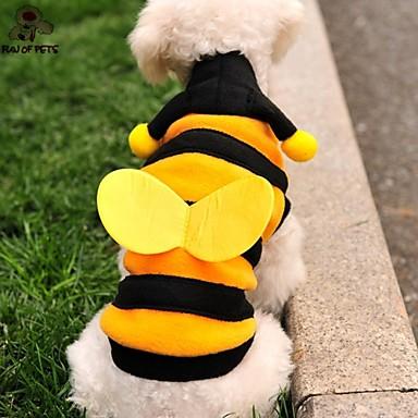 Kat Hond kostuums Hoodies Hondenkleding Schattig Cosplay Dier Geel Kostuum Voor huisdieren