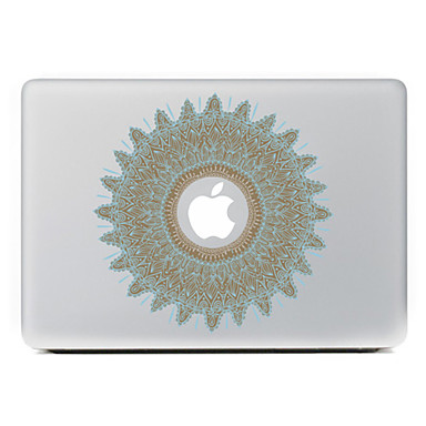 κυκλική λουλούδι 20 διακοσμητικό αυτοκόλλητο δέρμα για MacBook Air / Pro / Pro με οθόνη Retina