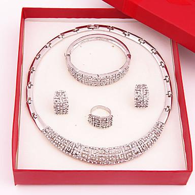 Dames Sieraden Set Bergkristal Luxe Modieus Bruiloft Feest Speciale gelegenheden  Verjaardag Verloving Verguld Gesimuleerde diamant