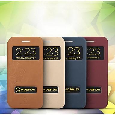 moshuo ™ hoge kwaliteit ultradunne met pu lederen achterkant van de behuizing voor iphone 6 plus (diverse kleuren)