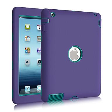 hoesje Voor Schokbestendig Stofbestendig Waterbestendig Volledige behuizing Effen Kleur Siliconen voor iPad 4/3/2