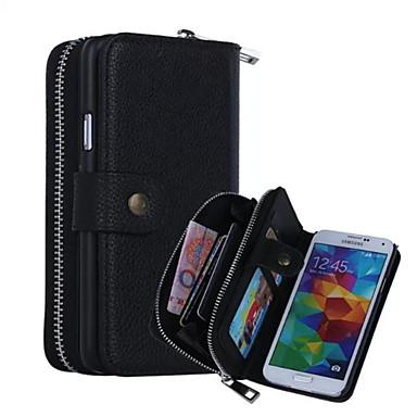 Недорогие Чехлы и кейсы для Galaxy S-Кейс для Назначение SSamsung Galaxy S7 edge / S7 / S6 edge Кошелек Чехол Однотонный Кожа PU