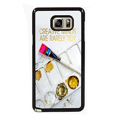 Para Samsung Galaxy Note Case Tampa Estampada Capa Traseira Capinha Palavra / Frase PC para Samsung Note 5 Edge Note 5 Note 4 Note 3