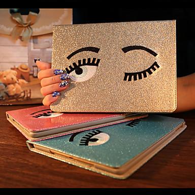 charmante grote ogen pu beschermende case cover met standaard voor iPad mini 1 / mini 2 / mini 3 (verschillende kleuren)