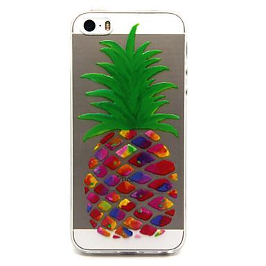 Voor iPhone 5 hoesje Hoesje cover Transparant Patroon Achterkantje hoesje Fruit Zacht TPU voor iPhone 7 Plus iPhone 7 iPhone SE/5s iPhone