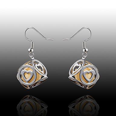 Heart Shape Κρεμαστά Σκουλαρίκια Κοσμήματα Γυναικεία Καρδιά Γάμου Πάρτι Καθημερινά Causal Κράμα Απομίμηση Μαργαριταριού 2pcs Ασημί