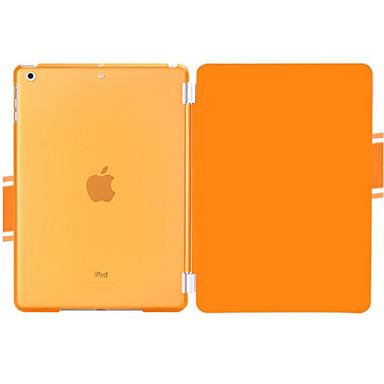 Hülle Für Apple mit Halterung / Origami Ganzkörper-Gehäuse Solide PU-Leder für iPad Air