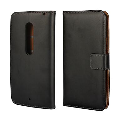 Voor Motorola hoesje Portemonnee / Kaarthouder / met standaard / Flip hoesje Volledige behuizing hoesje Effen kleur Hard PU-leer Motorola