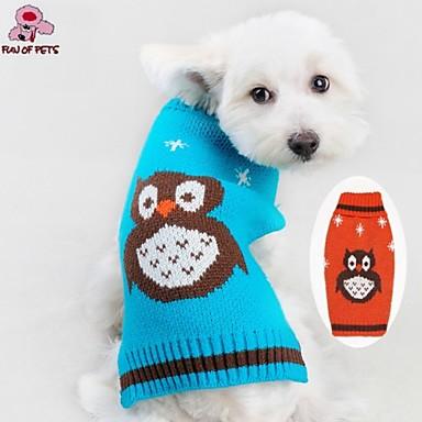 Γάτα Σκύλος Πουλόβερ Ρούχα για σκύλους Χαριτωμένο Καθημερινά Κινούμενα σχέδια Πορτοκαλί Μπλε Στολές Για κατοικίδια