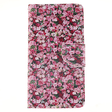 tok Για Samsung Galaxy Samsung Galaxy Note Θήκη καρτών Πορτοφόλι με βάση στήριξης Ανοιγόμενη Πλήρης Θήκη Λουλούδι PU δέρμα για Note 4