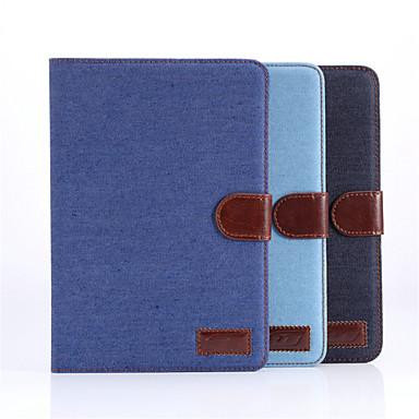 Capinha Para iPad Mini 3/2/1 Com Suporte Hibernação / Ligar Automático Magnética Capa Proteção Completa Côr Sólida Têxtil para iPad Mini