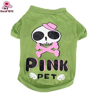 חתול כלב תחפושות טי שירט תלבושות בגדים לכלבים גוגולות אנימציה ירוק כותנה תחפושות עבור חיות מחמד קוספליי חתונה חג ליל כל הקדושים