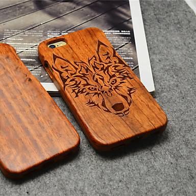 Voor iPhone 6 hoesje iPhone 6 Plus hoesje Hoesje cover Patroon Achterkantje hoesje dier Hard Hout vooriPhone 6s Plus iPhone 6 Plus iPhone