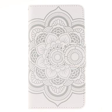 Para Samsung Galaxy Note Porta-Cartão / Carteira / Com Suporte / Flip Capinha Corpo Inteiro Capinha Flor Couro PU Samsung Note 4