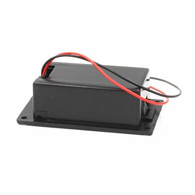 9V batterij + t-type gesp geval set - zwart