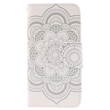 Για Θήκη iPhone 6 / Θήκη iPhone 6 Plus Θήκη καρτών / με βάση στήριξης tok Πλήρης κάλυψη tok Λουλούδι Σκληρή Συνθετικό δέρμαiPhone 6s