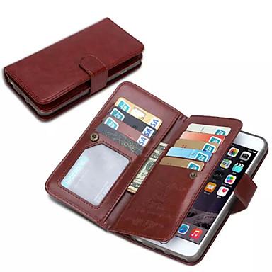 iphone 7 mais de ji carteira estojo de couro pu para iphone 6s 6 mais com 9 slots de cartão