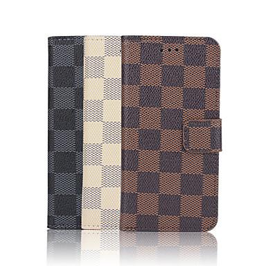 hoesje Voor Apple iPhone 6 iPhone 6 Plus Kaarthouder Portemonnee met standaard Flip Patroon Volledig hoesje Geometrisch patroon Hard