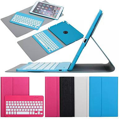 Voor Hoesje cover met standaard met toetsenbord Flip 360° rotatie Volledige behuizing hoesje Effen Kleur Hard PU-leer voor iPad Air 2
