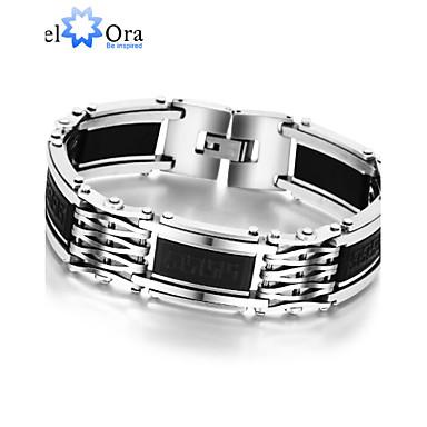 Armbanden met ketting en sluiting Armband Uniek ontwerp Vintage Feest Werk Informeel Modieus Titanium Staal Schermkleur Anderen Sieraden