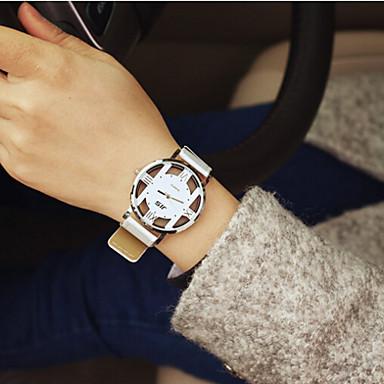 Dames Modieus horloge Kwarts Hol Gegraveerd PU Band Vintage