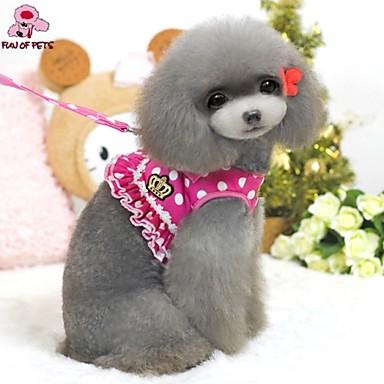 ieftine Câini Gulere, hamuri și Curelușe-Pisici Câine Hamuri Ajustabile / Retractabil Cosplay textil Nailon Negru Trandafiriu