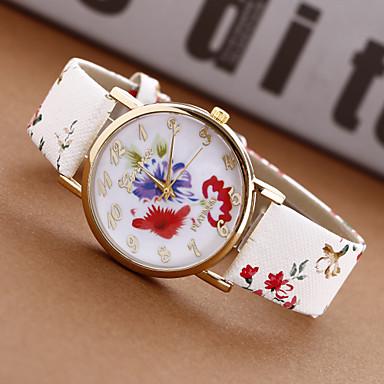 květina Watch   květina ženy Watch   květu dámské hodinky   prémie ženy  faux Ženeva kožené 059bc9a68a
