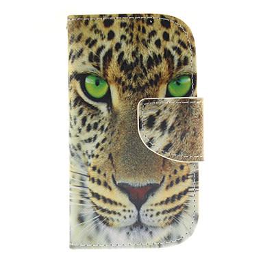 tok Για Samsung Galaxy Samsung Galaxy Θήκη Θήκη καρτών Πορτοφόλι με βάση στήριξης Ανοιγόμενη Πλήρης Θήκη Ζώο PU δέρμα για S3 Mini