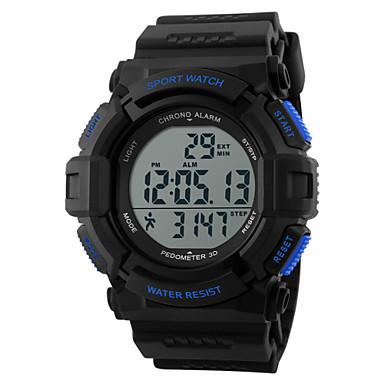 זול שעוני גברים-SKMEI בגדי ריקוד גברים שעוני ספורט שעון יד שעון דיגיטלי דיגיטלי גומי שחור 30 m עמיד במים מוניטור קצב לב Alarm דיגיטלי קסם - שחור כחול שנתיים חיי סוללה / לוח שנה / כרונוגרף / LCD / Maxell CR2025