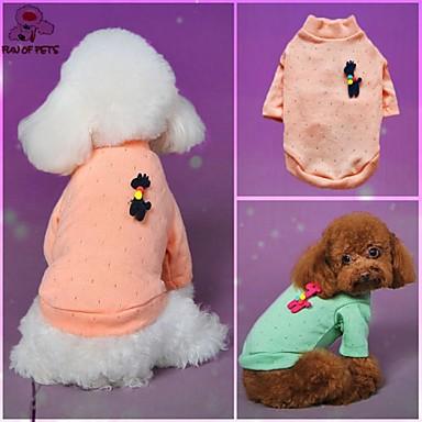 katten honden Sweatshirt Groen Blauw Roze Hondenkleding Winter Lente/Herfst Polka dots Casual/Dagelijks