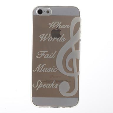 Voor iPhone 5 hoesje Transparant / Patroon hoesje Achterkantje hoesje Woord / tekst Zacht TPU iPhone SE/5s/5