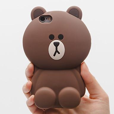 casos de proteção anti queda de silicone urso sólida para 6s iphone6 / iphone (cores sortidas)
