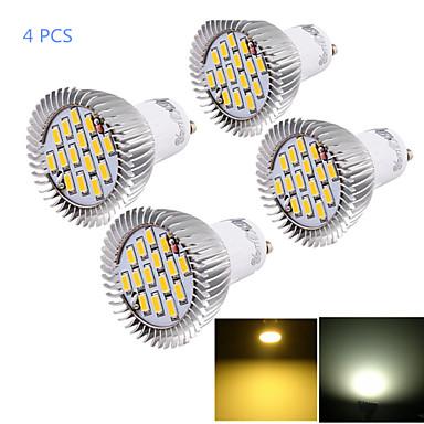 6W GU10 Lâmpadas de Foco de LED MR16 15 leds SMD 5630 Decorativa Branco Quente Branco Frio 450-500lm 3000/6000K AC 85-265V