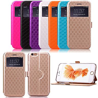 hoesje Voor Apple iPhone X iPhone 8 Plus iPhone 6 iPhone 6 Plus met standaard met venster Flip Patroon Volledig hoesje Geometrisch patroon