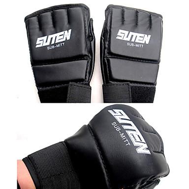 para Boxe Sem Dedo Vestível Resistente ao Choque Leve Pele Sintética Poliéster PU