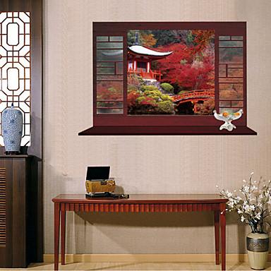 Dieren Stilleven Romantiek Mode Bloemen Botanisch Fantasie Muurstickers 3D Muurstickers Decoratieve Muurstickers, Vinyl Huisdecoratie